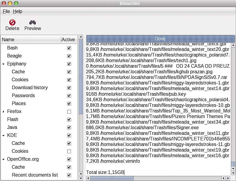 SVET KOMPJUTERA - LAKI PINGVINI - BleachBit 0.2.1