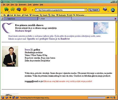 Brzi e-mail za upoznavanje putem interneta
