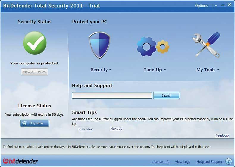 Основные возможности BitDefender Antivirus Pro 2011 * Проактивная