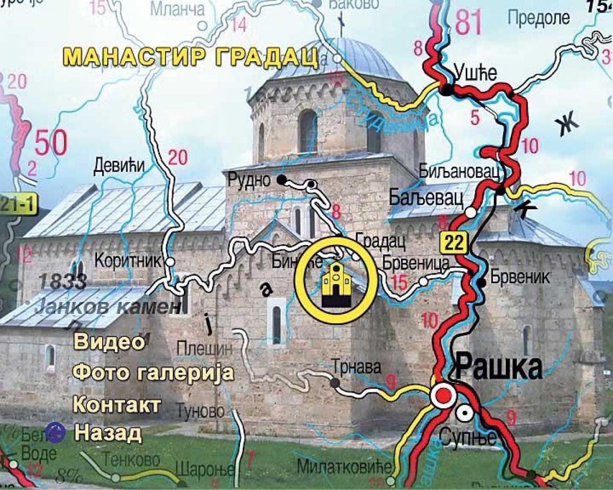 Manastiri I Crkve Srbije Crne Gore I Bosne I Hercegovine Svet